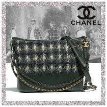 CHANEL Other Check Patterns Casual Style Calfskin Handbags
