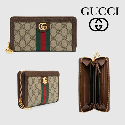 the latest 01db6 6022a GUCCI Ophidia 2018-19AW Monogram Canvas Long Wallets (523154 96IWG 8745)