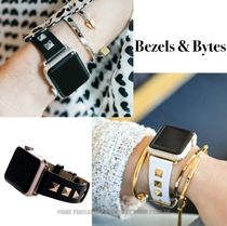 BEZELS & BYTES Casual Style Studded Leather Watches