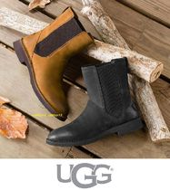 UGG Australia Round Toe Casual Style Leather Block Heels