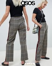ASOS Stripes Other Check Patterns Casual Style Long Pants