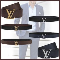 Louis Vuitton UTAH Blended Fabrics Street Style Bi-color Leather Long Belt