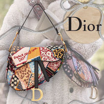 Christian Dior Flower Patterns Casual Style Canvas Blended Fabrics 2WAY
