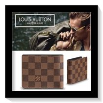 Louis Vuitton Other Check Patterns Canvas Folding Wallets