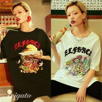 ELF SACK Crew Neck Street Style Cotton Medium Short Sleeves