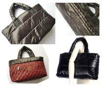 CHANEL COCO COCOON Casual Style Nylon A4 Totes
