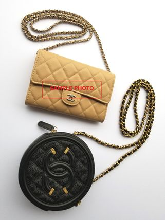 CHANEL Shoulder Bags Casual Style Chain Leather Shoulder Bags 7