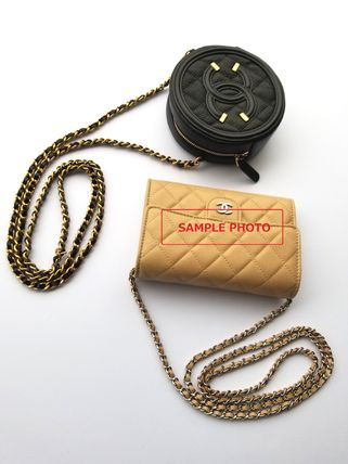 CHANEL Shoulder Bags Casual Style Chain Leather Shoulder Bags 8