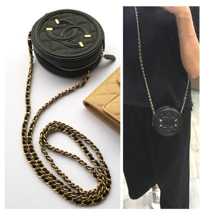 CHANEL Shoulder Bags Casual Style Chain Leather Shoulder Bags 2