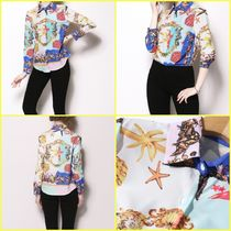Star Long Sleeves Medium Elegant Style Shirts & Blouses