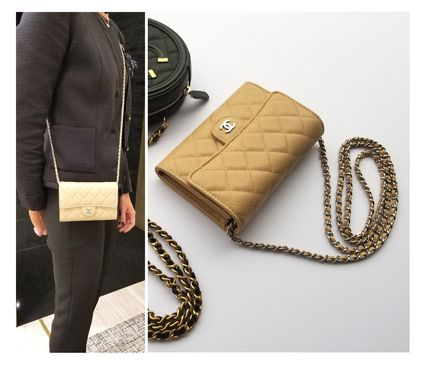 CHANEL Shoulder Bags Casual Style 3WAY Chain Leather Shoulder Bags