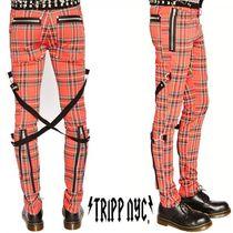 TRIPP NYC Unisex Street Style Plain Cotton Skinny Fit Pants