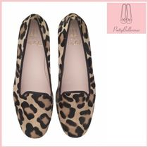 Pretty Ballerinas Leopard Patterns Square Toe Casual Style Fur Block Heels
