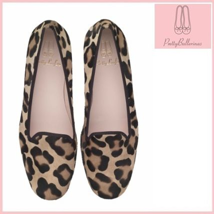 Leopard Patterns Square Toe Casual Style Fur Block Heels