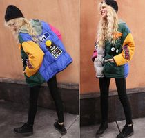 ELF SACK Casual Style Street Style Medium Oversized Varsity Jackets