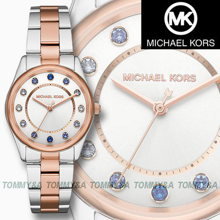 0b2583b4ec1f ... Michael Kors Analog Round Quartz Watches Stainless With Jewels Analog  Watches ...