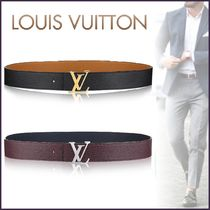 Louis Vuitton TAURILLON Blended Fabrics Street Style Bi-color Plain Leather