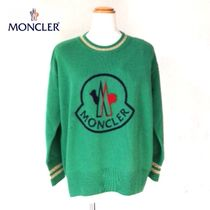 MONCLER Casual Style Cashmere U-Neck Long Sleeves Cashmere