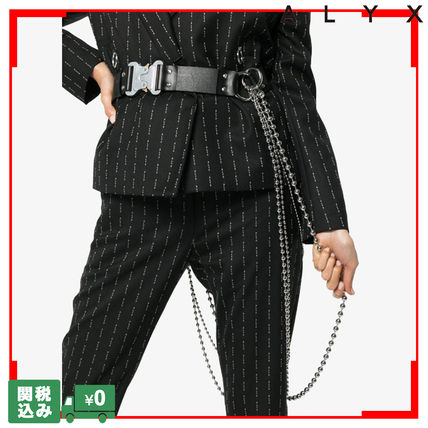 Casual Style Unisex Street Style Chain Plain Leather Belts