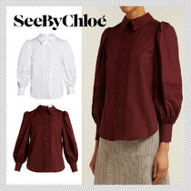 See by Chloe Casual Style Long Sleeves Cotton Shirts & Blouses