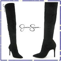Jessica Simpson Suede Plain Pin Heels Over-the-Knee Boots
