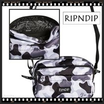 RIPNDIP Camouflage Casual Style Unisex Street Style Shoulder Bags