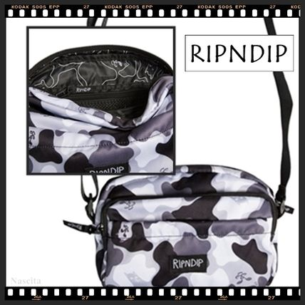 Camouflage Casual Style Unisex Street Style Shoulder Bags