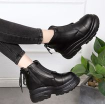 Platform Round Toe Casual Style Ankle & Booties Boots