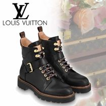 Louis Vuitton Monoglam Plain Toe Mountain Boots Casual Style Street Style