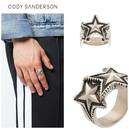 Star Unisex Silver Rings