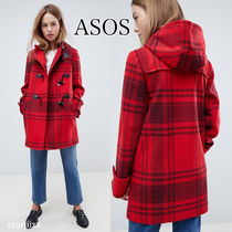 ASOS Other Check Patterns Casual Style Wool Blended Fabrics