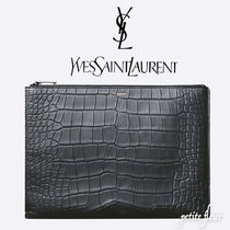 Saint Laurent Crocodile Clutches