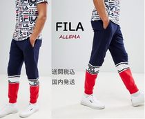 FILA Tapered Pants Street Style Cotton Tapered Pants