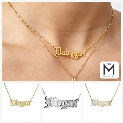 Casual Style Initial Street Style Chain With Jewels