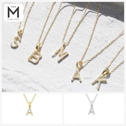 Casual Style Unisex Initial Chain Silver With Jewels