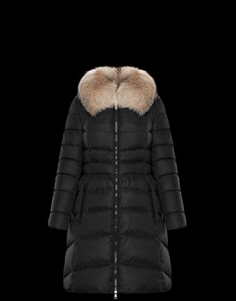 MONCLER Down Jackets Fur Street Style Plain Medium Down Jackets 2