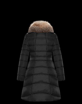 MONCLER Down Jackets Fur Street Style Plain Medium Down Jackets 3