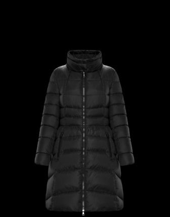 MONCLER Down Jackets Fur Street Style Plain Medium Down Jackets 4
