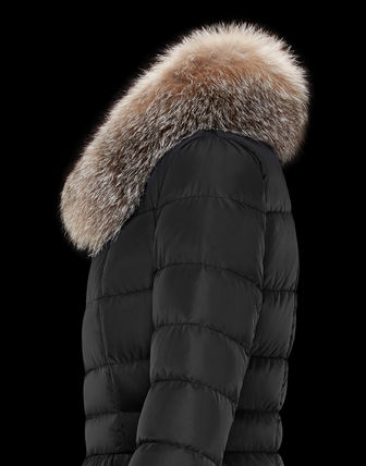 MONCLER Down Jackets Fur Street Style Plain Medium Down Jackets 5