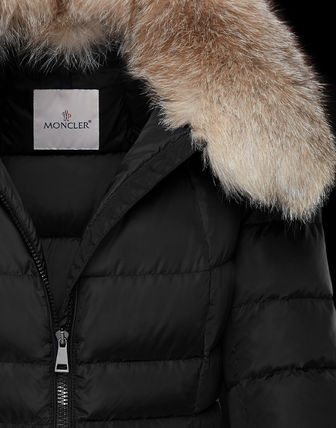 MONCLER Down Jackets Fur Street Style Plain Medium Down Jackets 6
