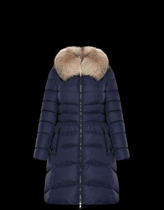 MONCLER Down Jackets Fur Street Style Plain Medium Down Jackets 7