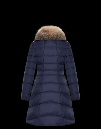 MONCLER Down Jackets Fur Street Style Plain Medium Down Jackets 8