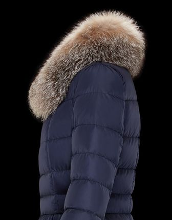 MONCLER Down Jackets Fur Street Style Plain Medium Down Jackets 9