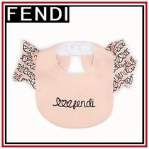 FENDI Blended Fabrics Baby Girl Bibs & Burp Cloths