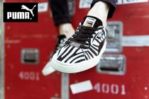 PUMA SUEDE Zebra Patterns Street Style Collaboration Sneakers