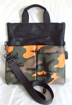 Coach Camouflage Blended Fabrics A4 2WAY Leather Totes