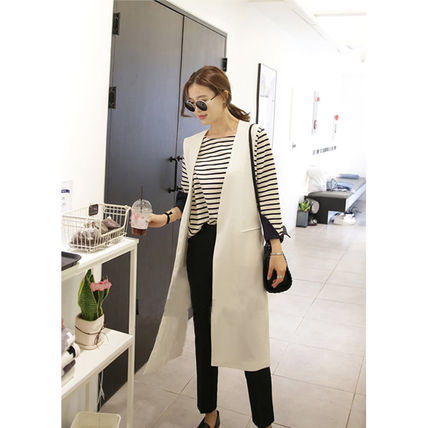 Casual Style Plain Cotton Medium Long Party Style