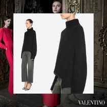 VALENTINO Casual Style Wool Long Sleeves Plain Medium Oversized