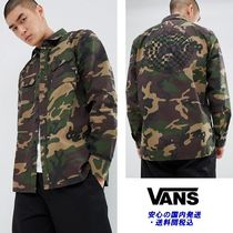 VANS Camouflage Street Style Long Sleeves Shirts