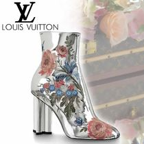 Louis Vuitton Flower Patterns Plain Toe Casual Style Street Style Leather